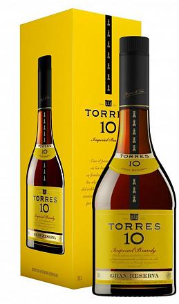 """Бренди """"Torres"""" 10 Gran Reserva, в подарочной упаковке - Drinkbay"""