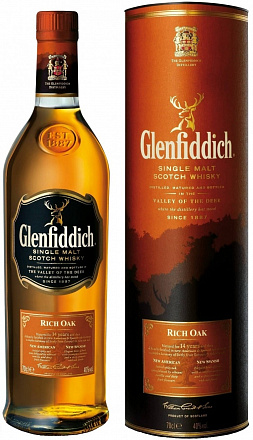 "Виски ""Glenfiddich"" Rich Oak 14 YO, в подарочной упаковке - Drinkbay"