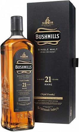 """Виски """"Bushmills"""" Single Malt 21 YO, в подарочной упаковке - Drinkbay"""