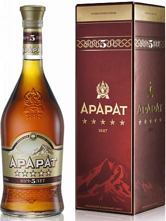 """Коньяк """"Арарат"""" 5 звезд, в подарочной упаковке - Drinkbay"""